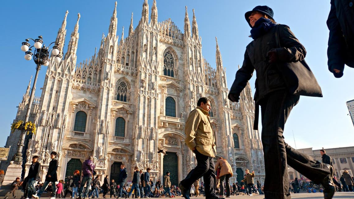 Tourists at Piazza Duomo in Milan, Italy. (Shutterstock)
