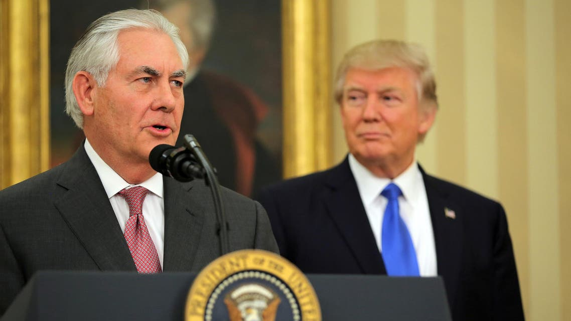 trump and tillerson reuters
