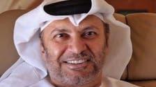 قرقاش: قطر تتهرب وتروج لأزمتها السياسية على أنها حصار