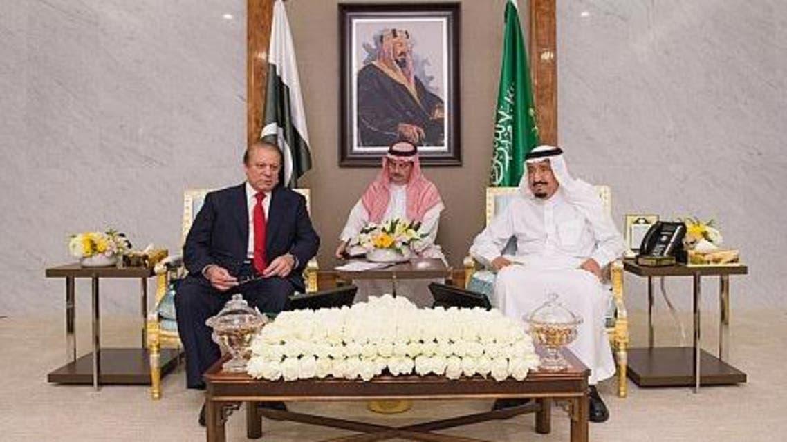 العاهل السعودي ورئيس وزراء باكستان