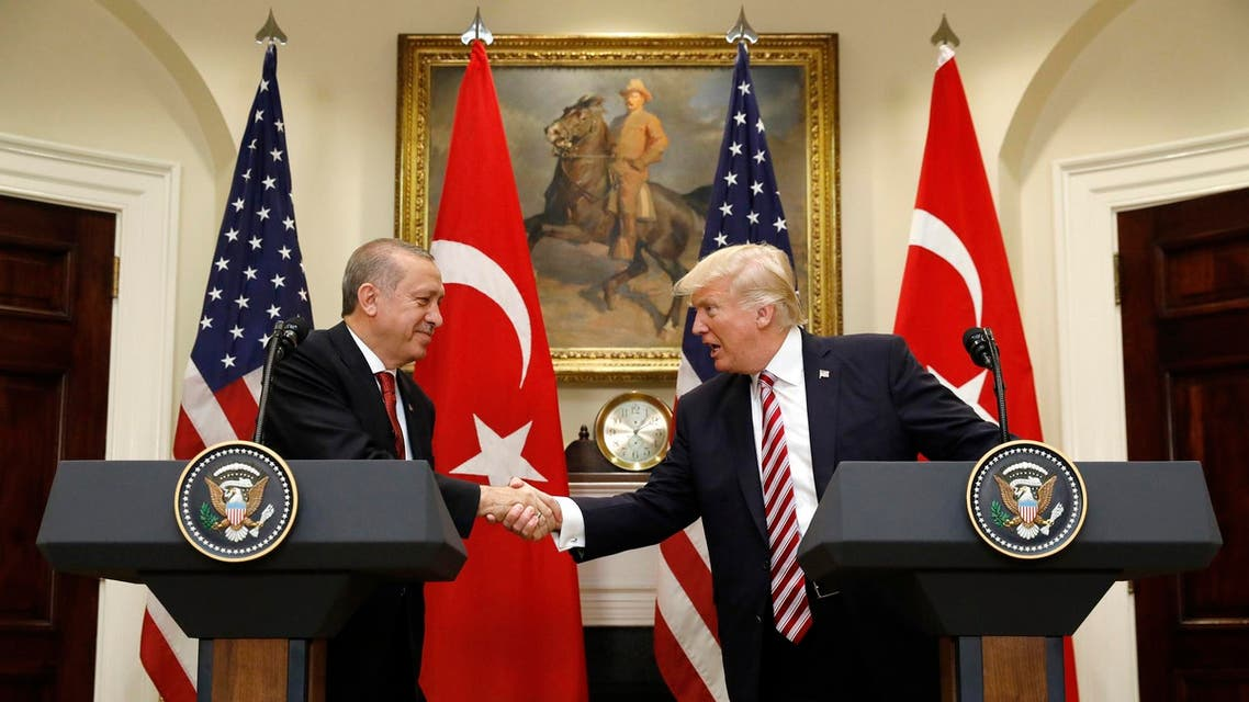 Tayyip Erdogan and  Donald Trump