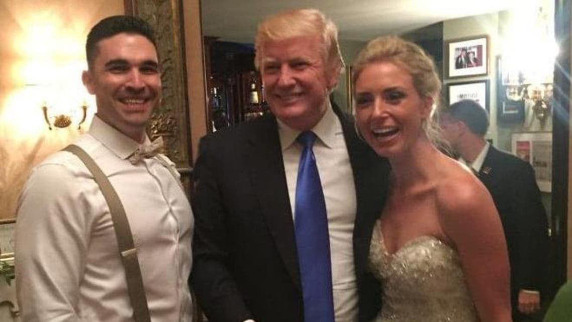 President Trump took photos with the bride and the groom. (Photo courtesy: The Telegraph)