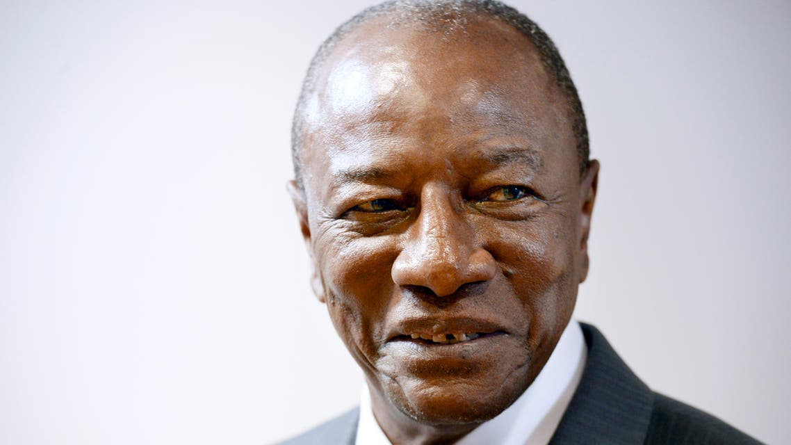 Guinean President Alpha Conde poses prior to a meeting at the European Union Council building in Brussels, on June 7, 2017