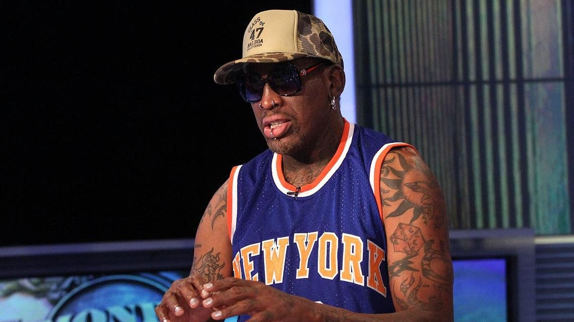 In 2013, Dennis Rodman visited North Korea to film a television documentary with representatives of the Harlem Globetrotters celebrity team. (File photo: AFP)
