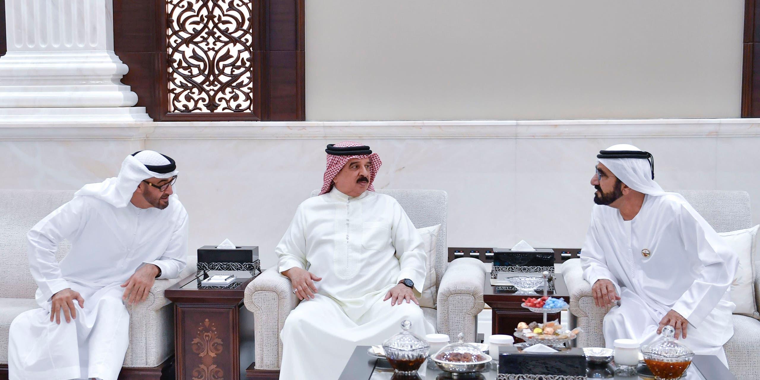 لقاء ثلاثي يجمع بين ملك البحرين و الشيخ محمد بن راشد والشيخ محمد بن زايد