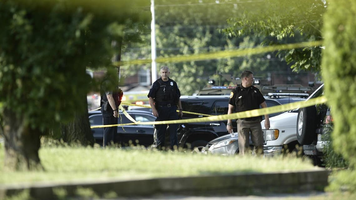Police tape cordons off the scene of an early morning shooting in Alexandria, Virginia, June 14, 2017. Senior Republican Congressman Steve Scalise was among several victims shot and wounded at a baseball practice ahead of an annual game between lawmakers.Scalise was reportedly shot in the hip. Scalise is the majority whip who rallies Republican votes in the House of Representatives. (AFP)