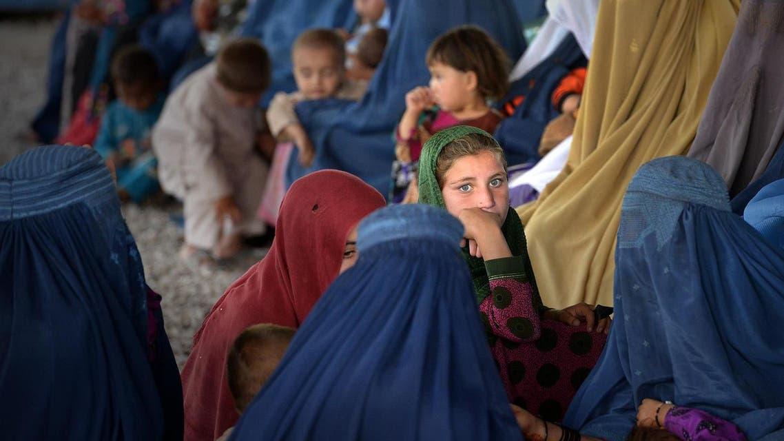 afghan refugee families afp