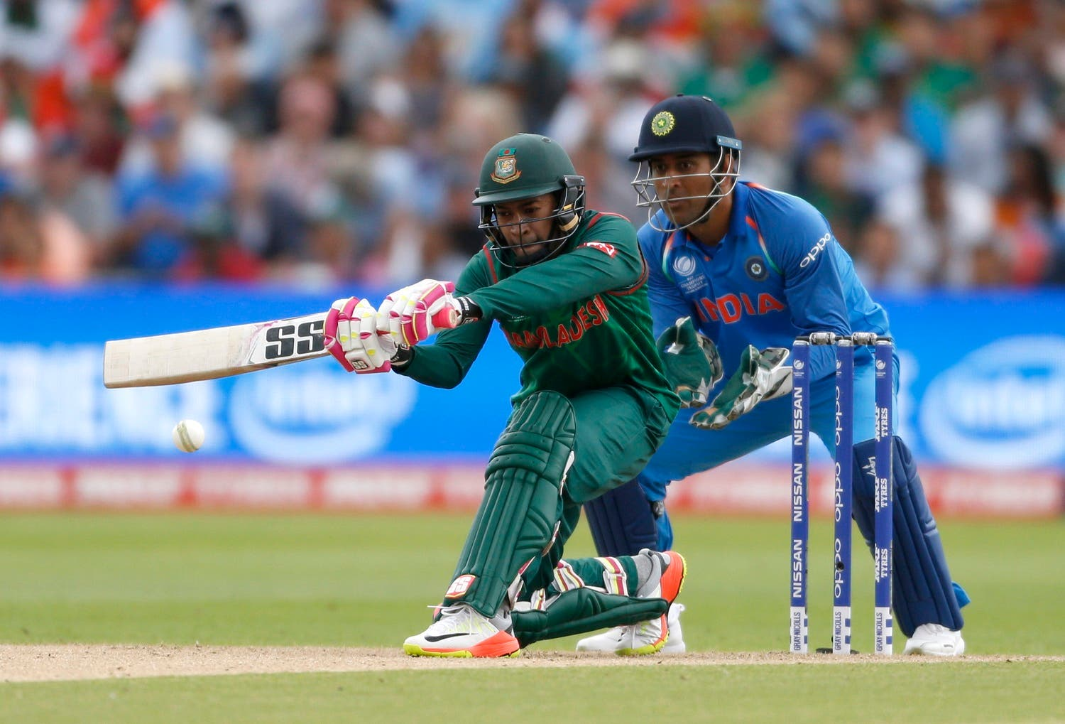 Bangladesh's Mushfiqur Rahim in action in the  India v Bangladesh - 2017 ICC Champions Trophy semi-final at Edgbaston on Thursday, June 15, 2017. (Reuters)