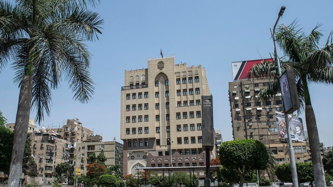 A picture taken on June 6, 2017 shows the building of the Qatari embassy in the Egyptian capital Cairo. (AFP)