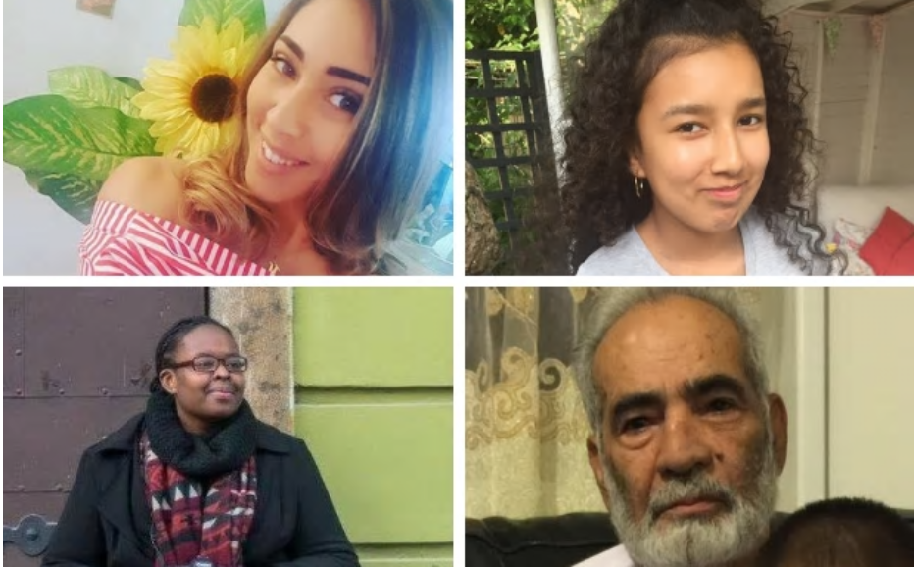 أربعة من المفقودين نشر الاعلام البريطاني صورهم، ومصيرهم غير معلوم