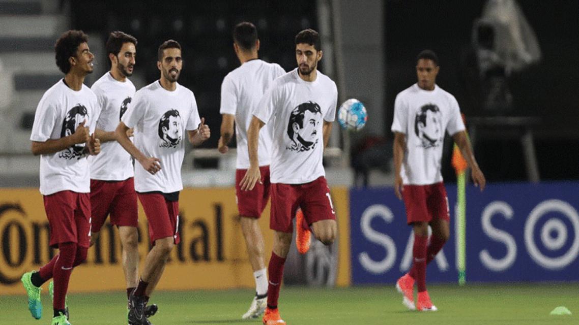 پیراهن «تمیم» احتمالا به جریمه تیم ملی قطر بینجامد