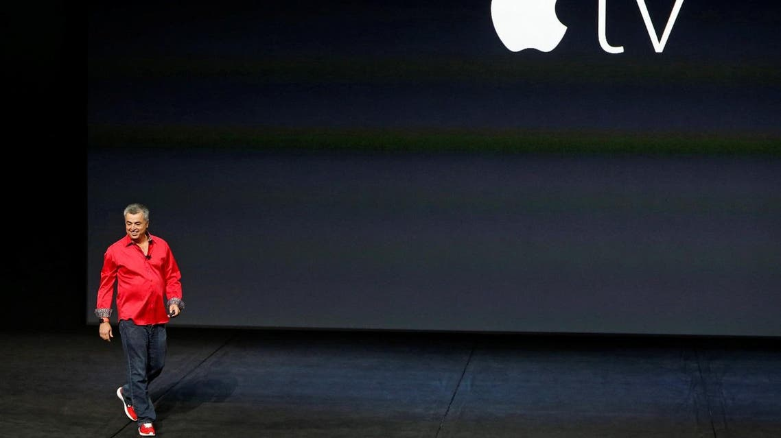 Eddie Cue, Apple's senior vice president of Internet Software and Services, takes the stage to discuss Apple TV during an Apple media event in San Francisco, California. (Reuters)