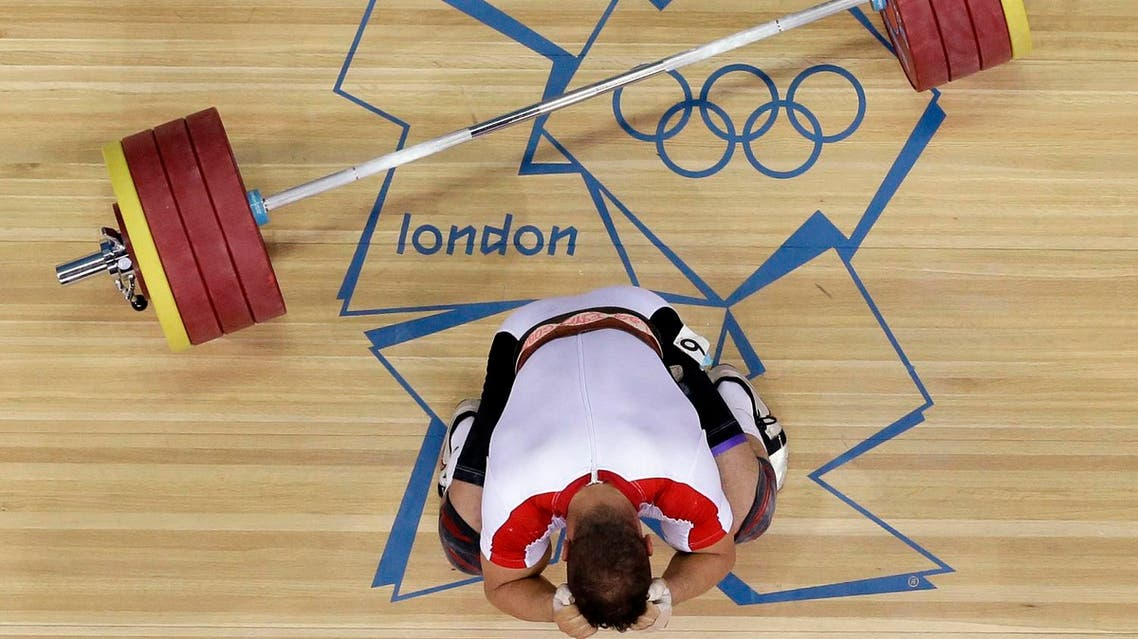 A file photo of weightlifting competition at the London Olympics. (AP)