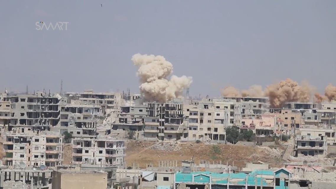 THUMBNAIL_ النظام السوري يكثف الحملة على درعا