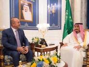 الملك سلمان يبحث العلاقات الثنائية مع وزير خارجية تركيا