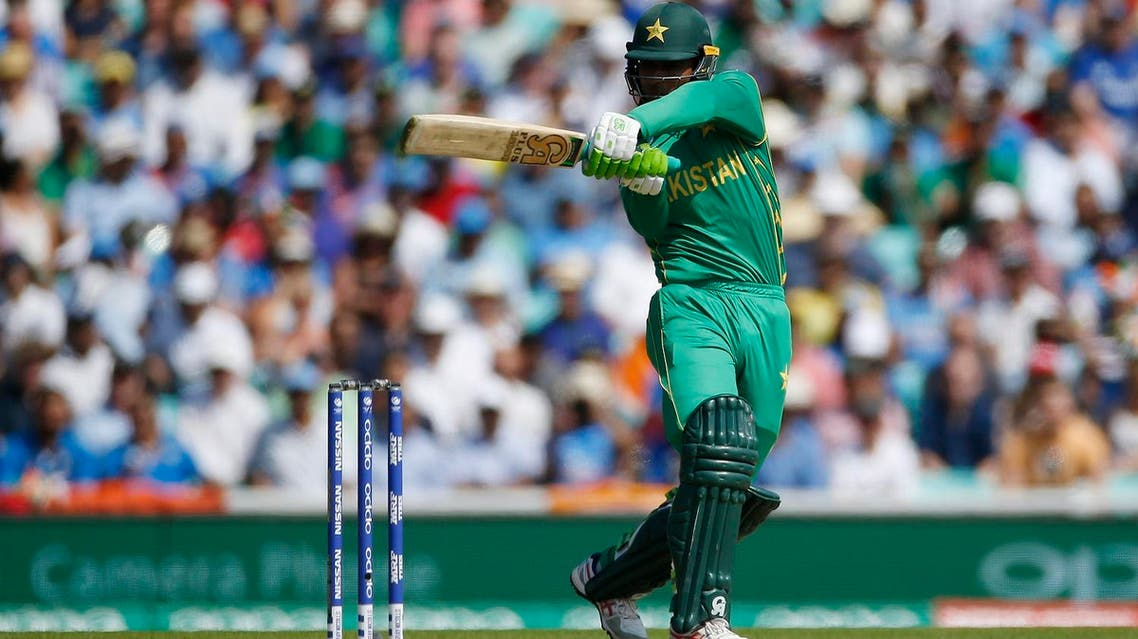 Pakistan's Fakhar Zaman celebrates his century in India-Pakistan 2017 ICC Champions Trophy Final on June 18, 2017. (Reuters)