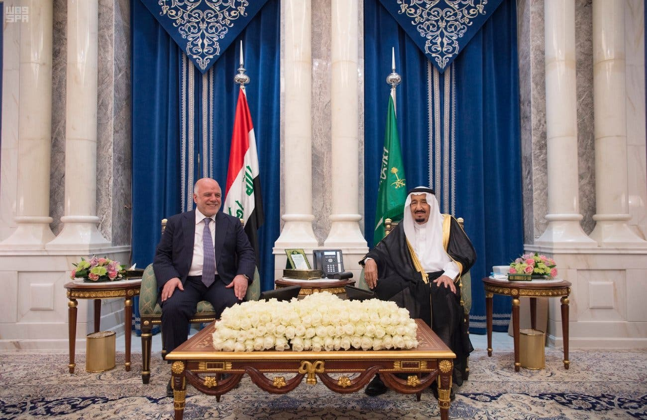 Saudi Arabia's King Salman holds talks with Iraqi Prime Minister Haider Abadi