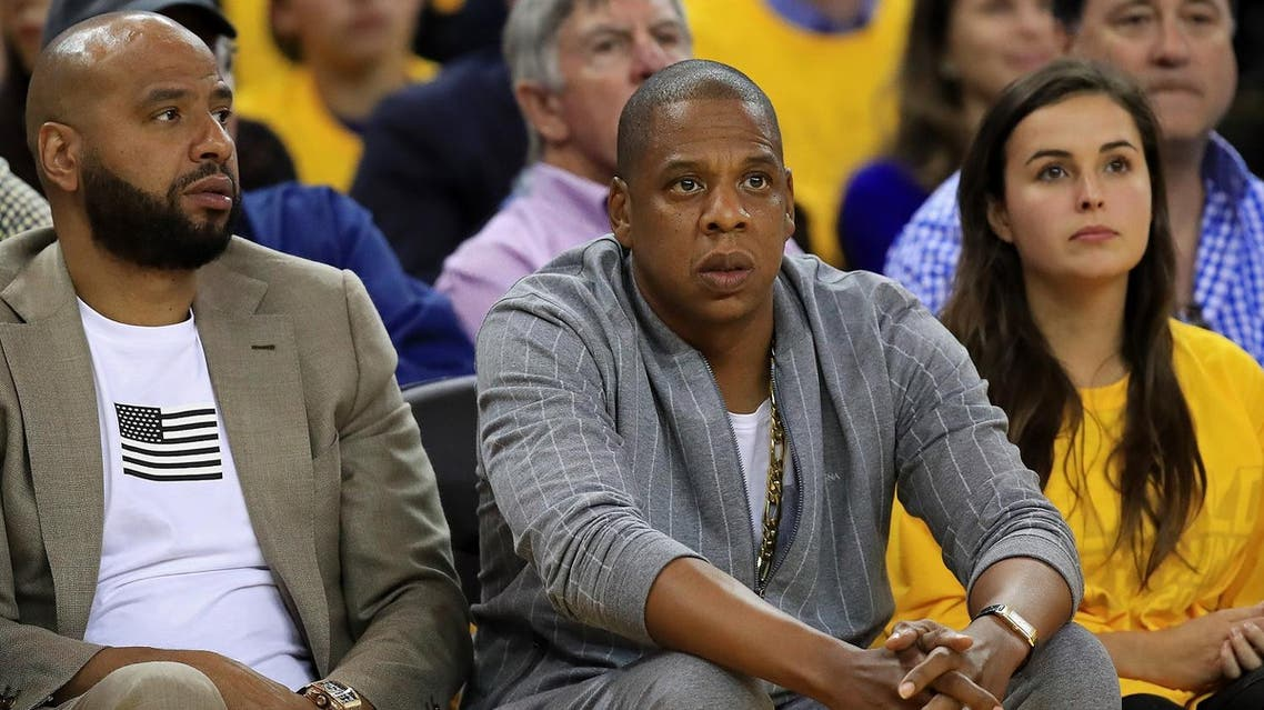 OAKLAND, CA - JUNE 01: Recording artist Jay-Z attends Game 1 of the 2017 NBA Finals between the Golden State Warriors and the Cleveland Cavaliers at ORACLE Arena on June 1, 2017 in Oakland, California. NOTE TO USER: User expressly acknowledges and agrees that, by downloading and or using this photograph, User is consenting to the terms and conditions of the Getty Images License Agreement. Thearon W. Henderson/Getty Images/AFP