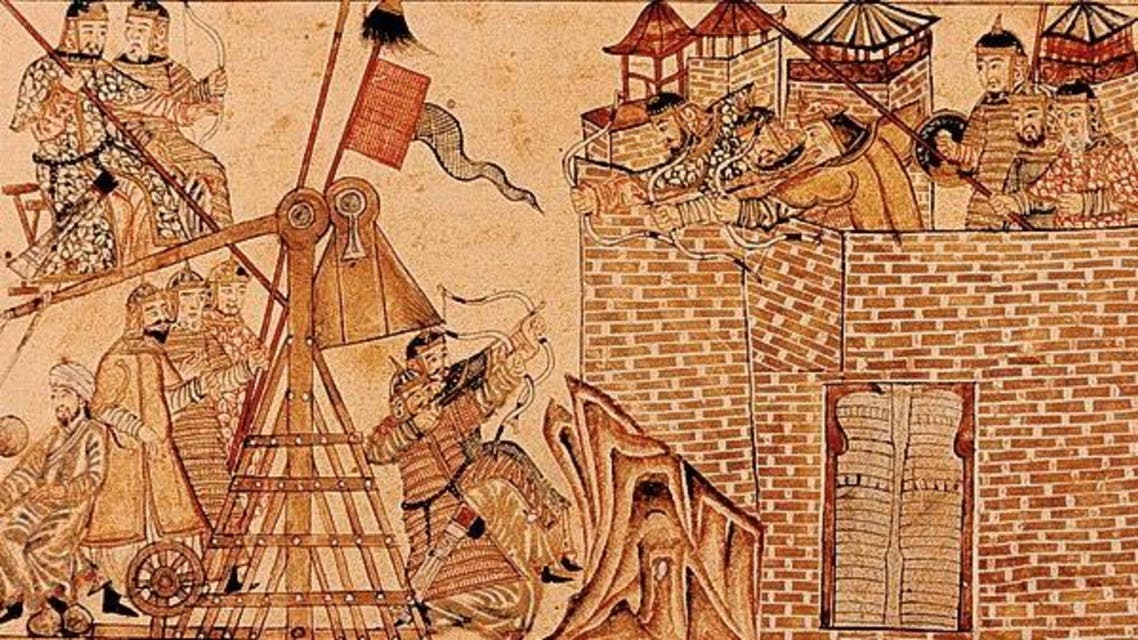 لوحة توضيحية لما جرى في معركة عين جالوت