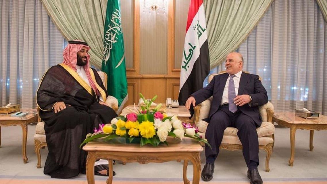 Deputy Crown Prince Mohammed bin Salman bin Abdulaziz met the Prime Minister of Republic of Iraq Dr. Haider Al-Abbadi. (SPA)
