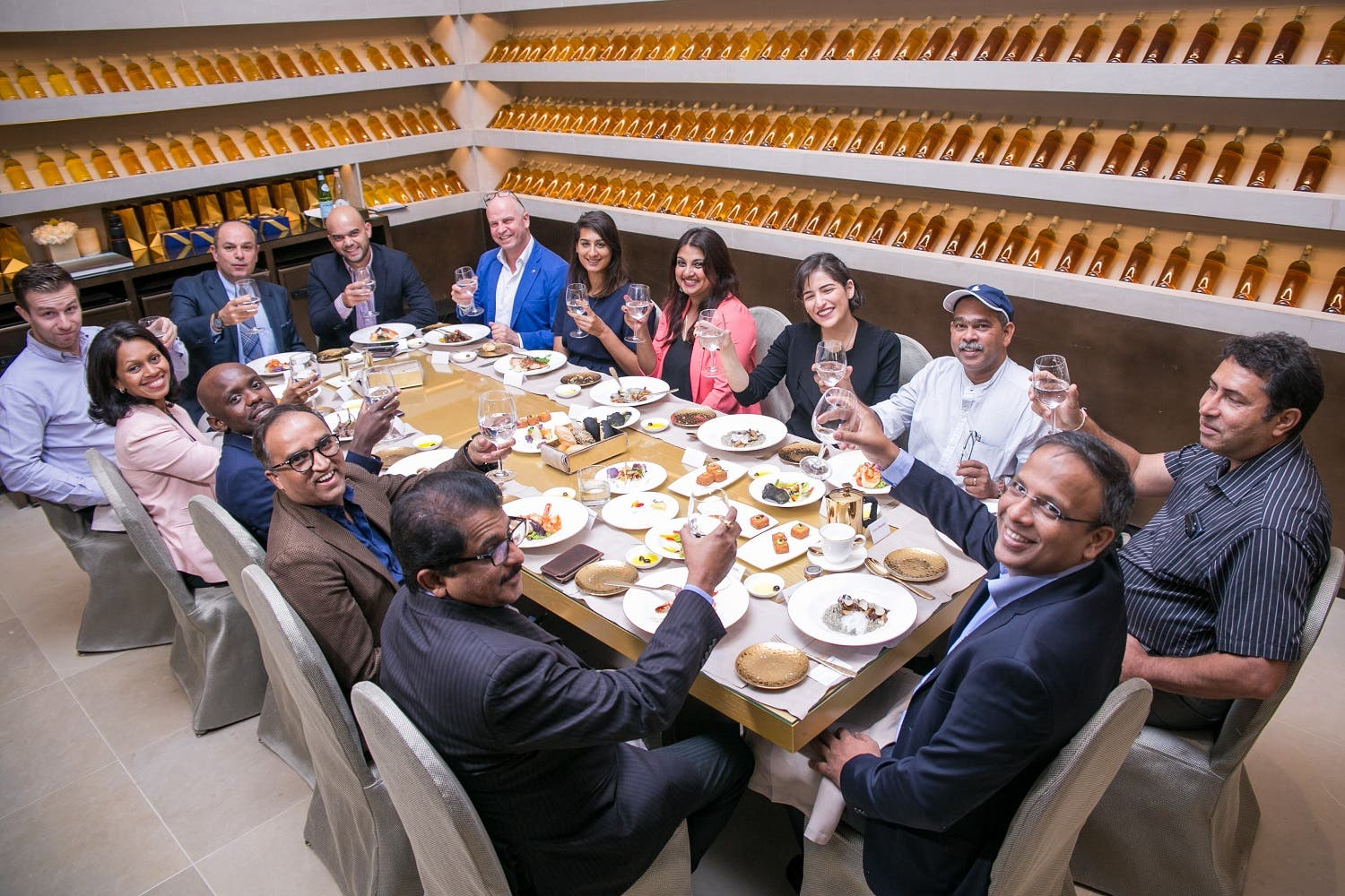 Radwan hosting an annual Iftar event for media personnel at the Armani Hotel. (Photo courtesy: Tata Communications)