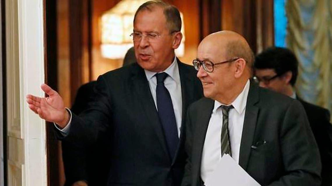 لافروف يستقبل وزير الخارجية الفرنسي