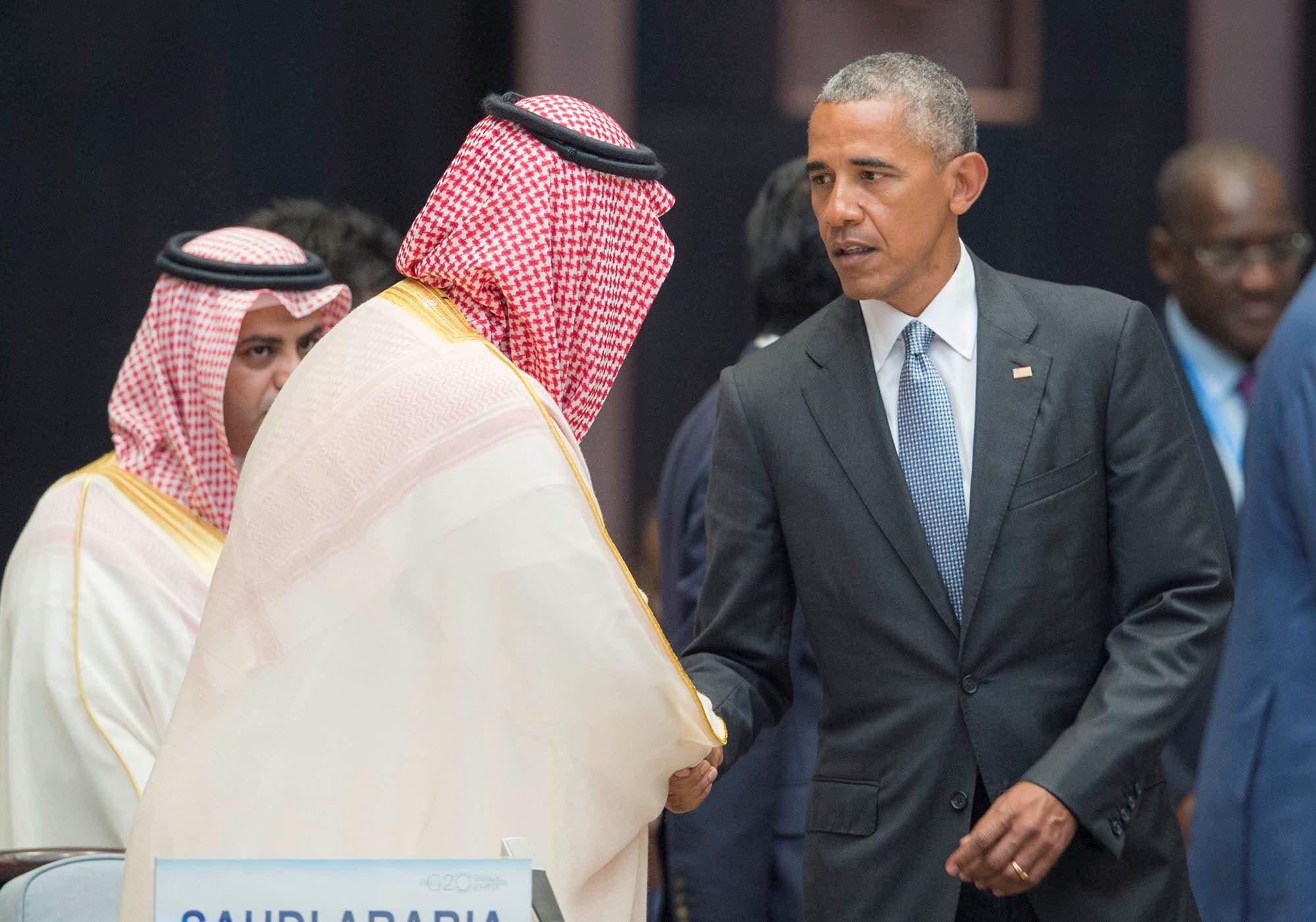 شاهزاده محمد بن سلمان به باراک اوباما رئیس جمهوری پیشین آمریکا