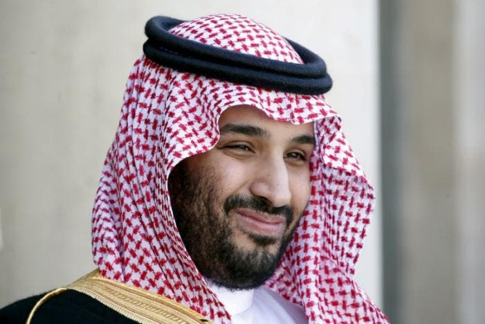 Saudi Arabia's then Deputy Crown Prince Mohammed bin Salman reacts upon his arrival at the Elysee Palace in Paris, France, June 24, 2015. (Reuters)