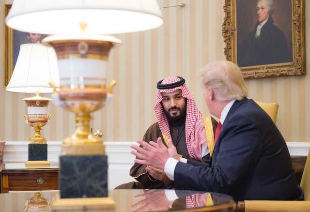 شاهزاده محمد بن سلمان به همراه دونالد ترامپ رئیس جمهوری آمریکا