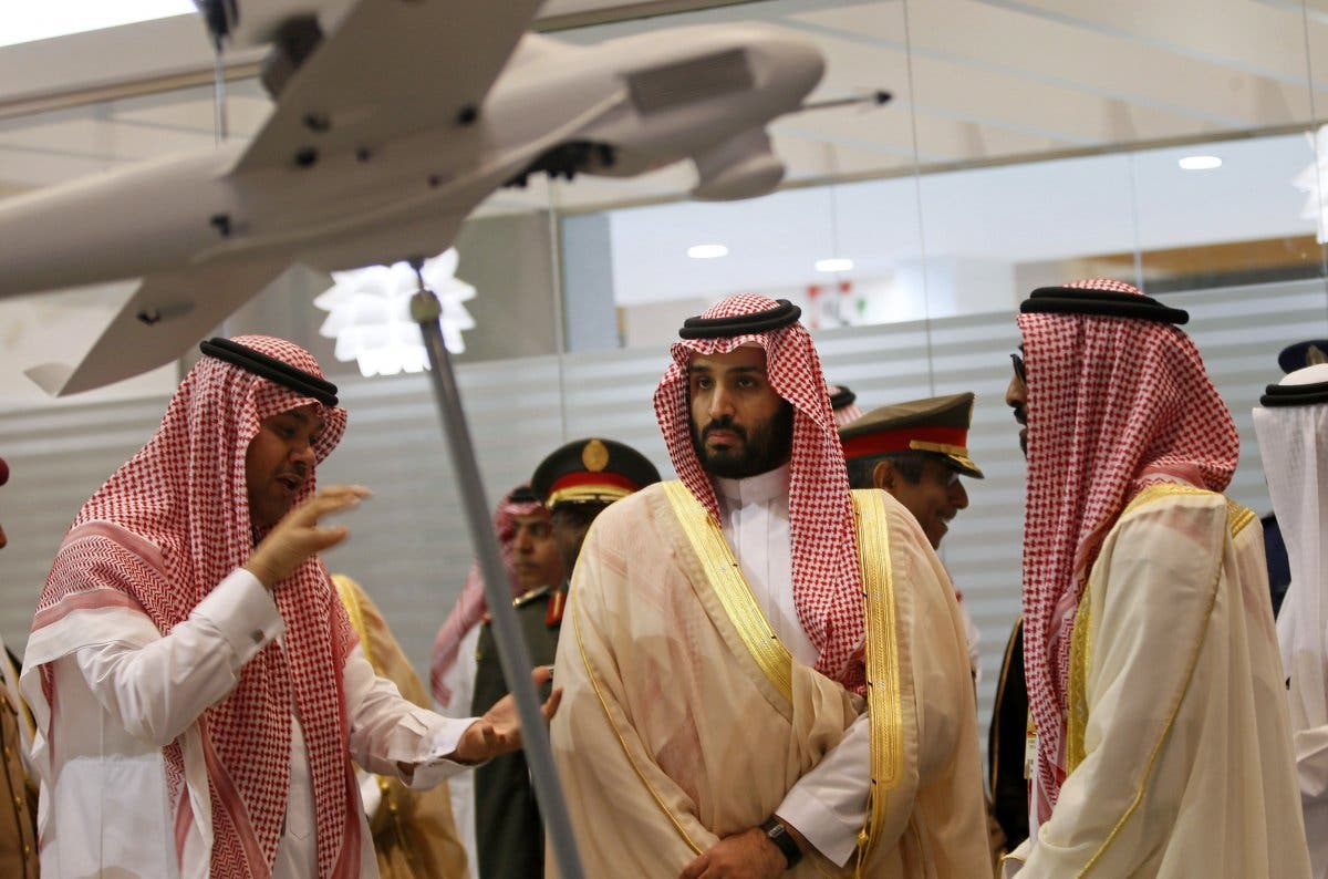 Saudi Defence Minister, Prince Mohammad bin Salman (C), visits the International Defence Exhibition and Conference (IDEX) in Abu Dhabi February 22, 2015. (Reuters)