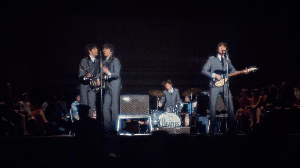 The Beatles perform at Carnegie Hall in New York City, Feb. 12, 1964. From left: bassist Paul McCartney, guitarist George Harrison, drummer Ringo Starr, and guitarist John Lennon. (AP)