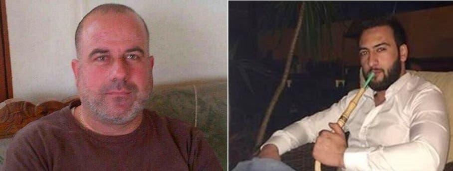 القاتل وليد عبيد (الى اليمين) والقتيل بعمر 47 سنة مارون حنا نهرا