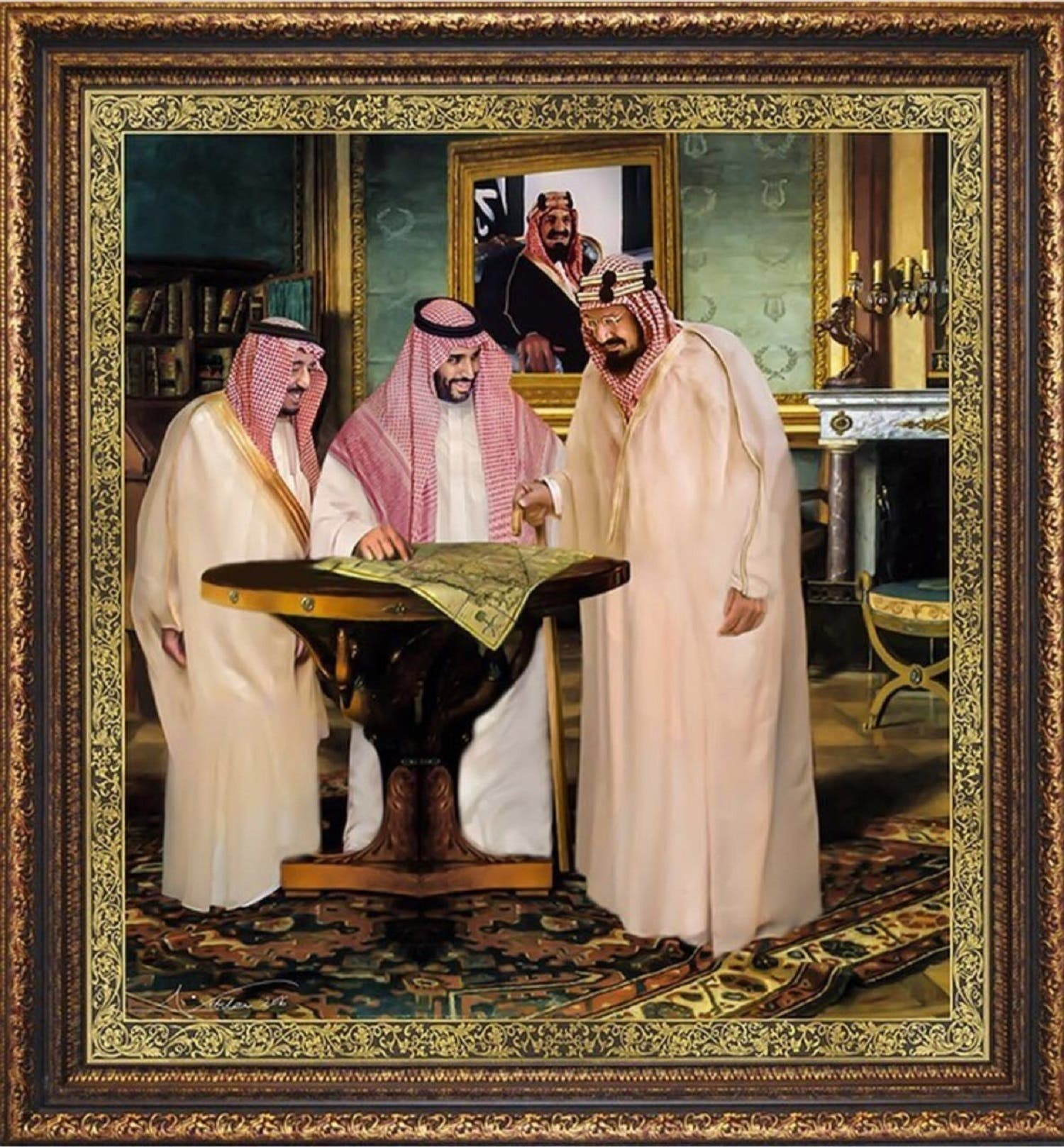 Painting titled 'Alliance of Glory' on the occasion of the National Day in 2016. (Supplied)