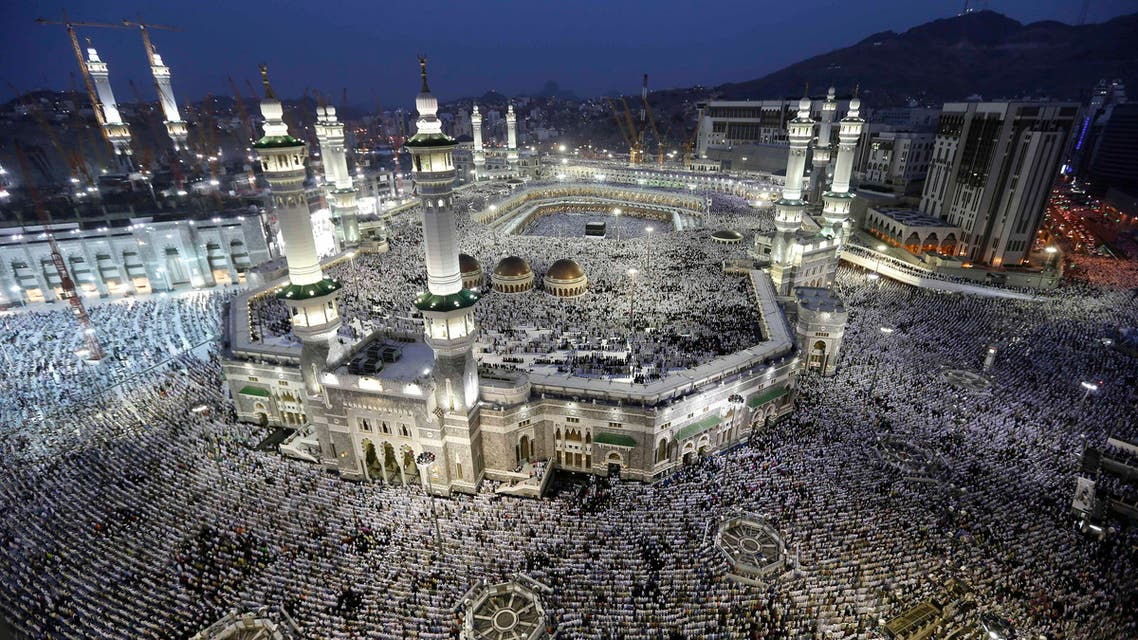 Muslim pilgrims circle the Kaaba as pray inside and outside the Grand mosque in Mecca, Saudi Arabia, Monday, Oct. 22, 2012. (AP)