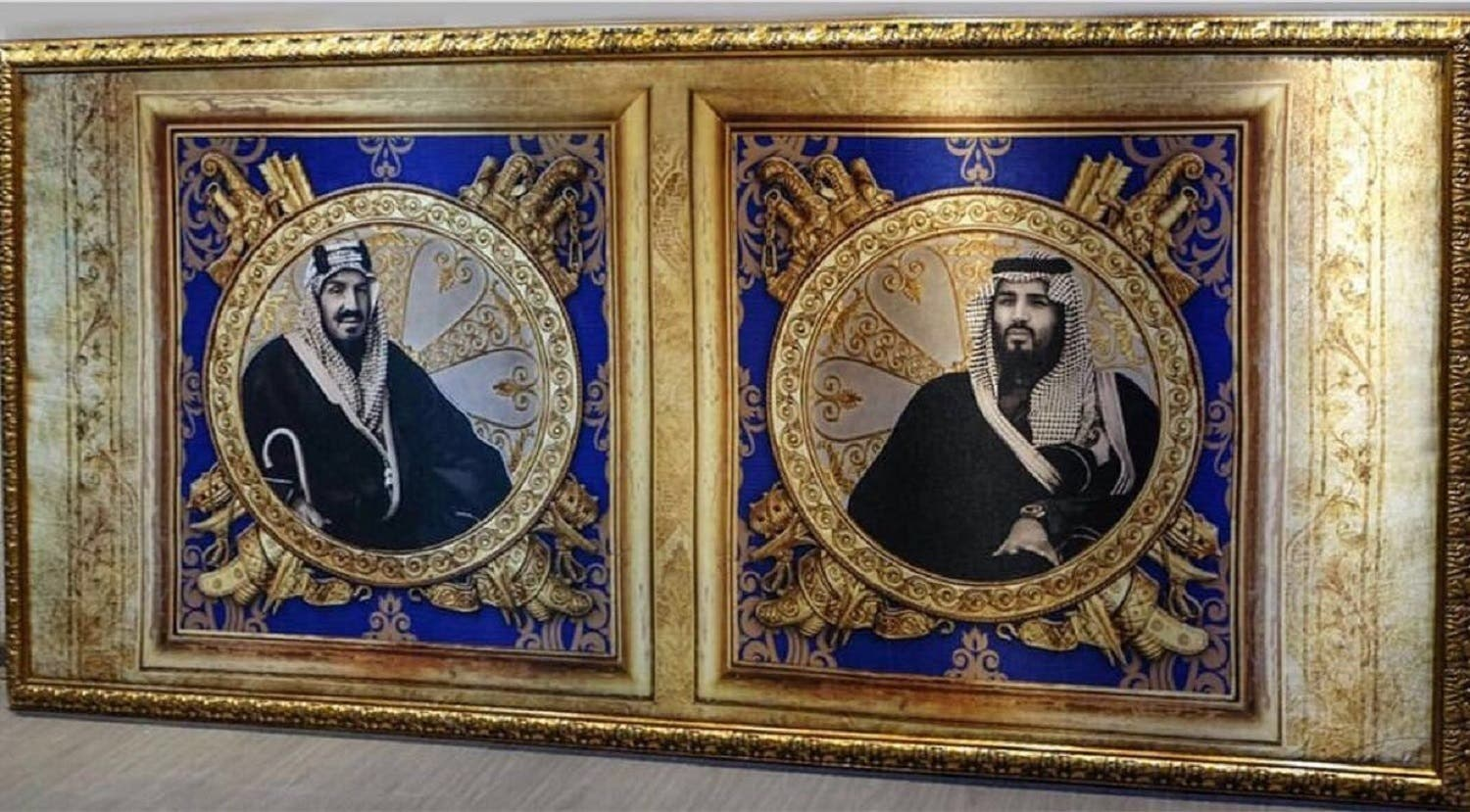 Abu al-Jadayel  she specializes in silk murals on kings and governors, embodying and documenting Saudi history.  (Supplied)