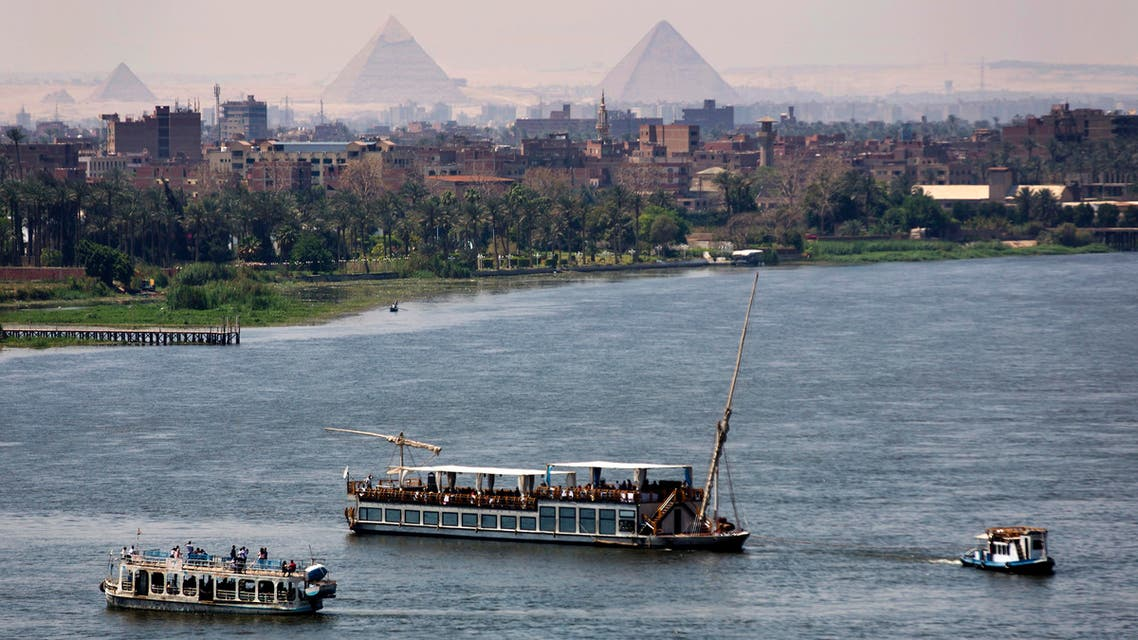 """Holiday makers enjoy Nile cruises during Sham el-Nessim, or """"smelling the breeze,"""" in Cairo, Egypt, Monday, April 17, 2017. AP"""