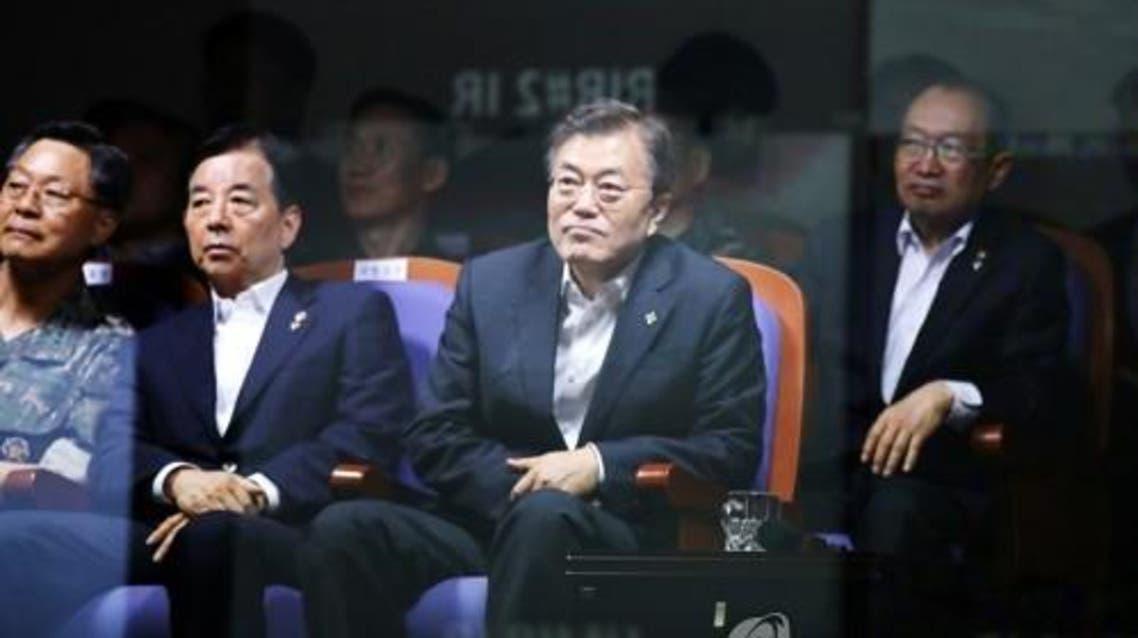 الرئيس الكوري الجنوبي يتابع التجربة الصاروخية التي جرت صباح الجمعة