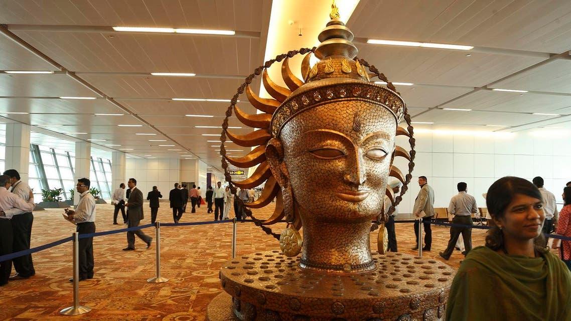 Interior of the Indira Gandhi International Airport Terminal 3 in New Delhi, India (File photo: AP)
