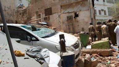 شاهد المبنى الذي كان الانتحاري يتحصن بداخله في مكة