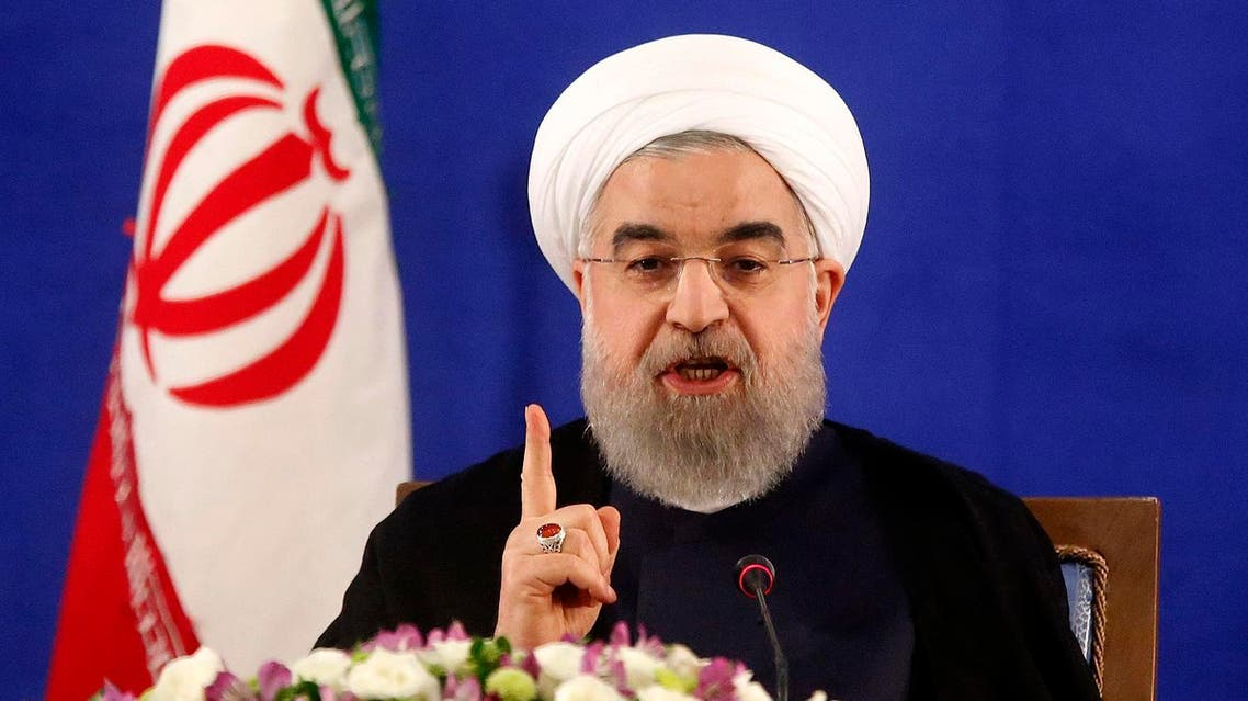 "Iranian President Hassan Rouhani holds a press conference in Tehran on May 22, 2017. Rouhani said that Iran does not need the permission of the United States to conduct missile tests, which would continue ""if technically necessary"". (AFP)"
