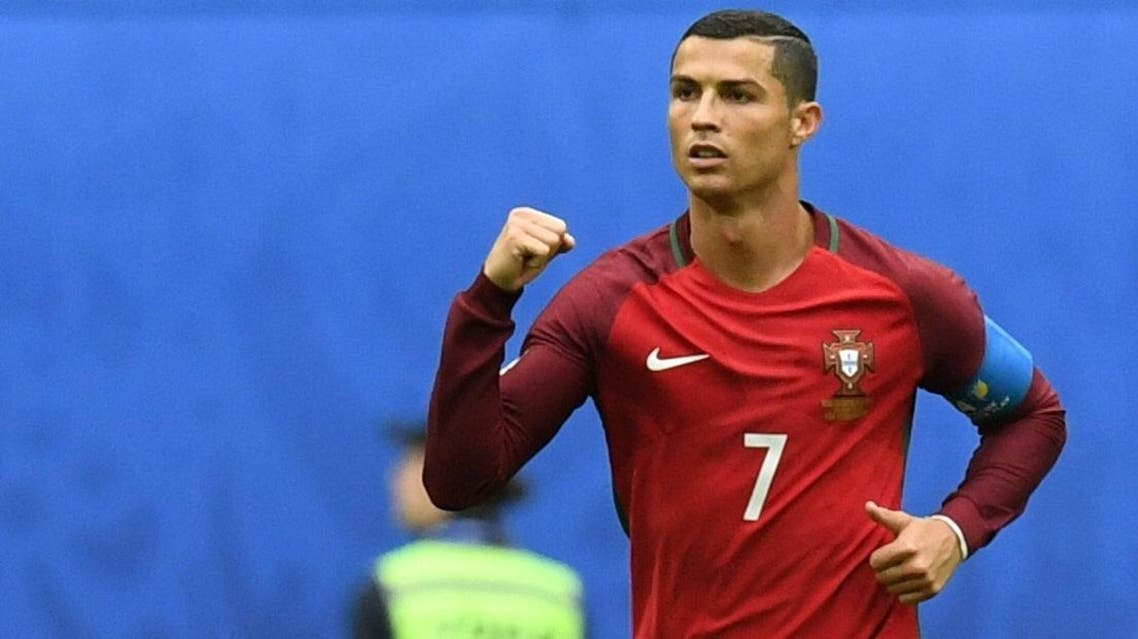 Portugal's forward Cristiano Ronaldo celebrates after scoring a penalty during the 2017 Confederations Cup group A football match between New Zealand and Portugal at the Saint Petersburg Stadium in Saint Petersburg on June 24, 2017. AFP