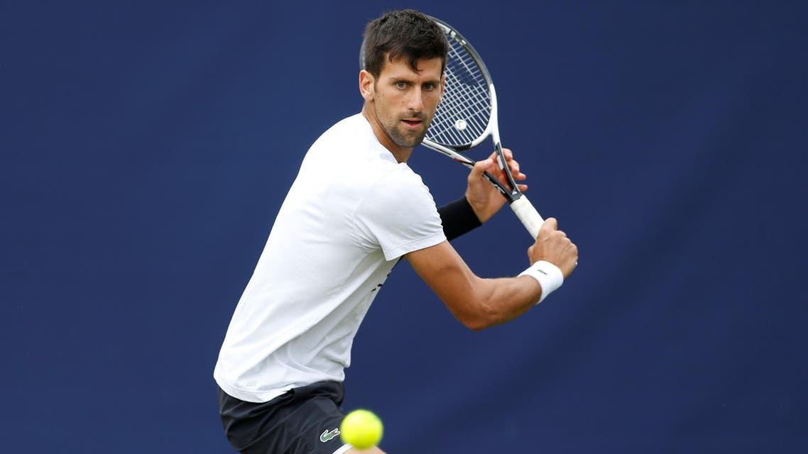 Serbia's Novak Djokovic during practice (Reuters)