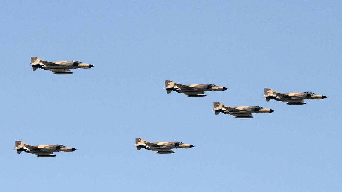 Iranian air force's US-made F-4 Phantom fighter jets perform during a parade on the occasion of the country's Army Day, on April 18, 2017, in Tehran. (AFP)
