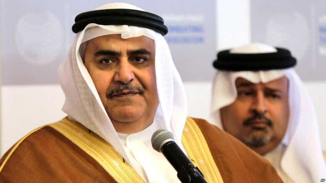 Bahrain's foreign minister Khalid bin Ahmed Al Khalifa. (AP)
