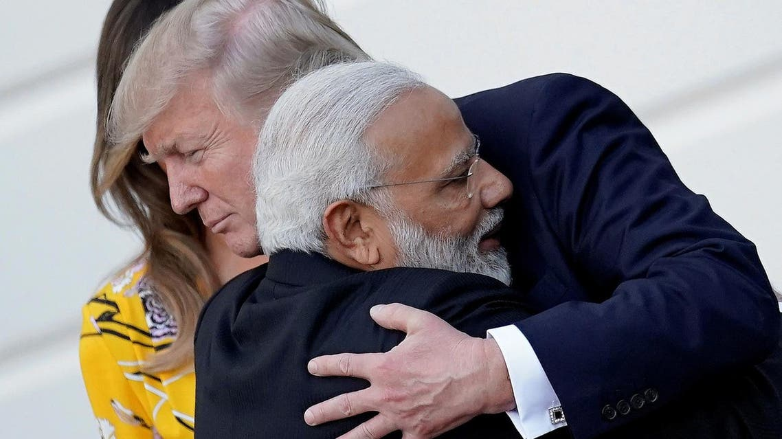 Narendra Modi hugs Donald Trump as he leaves the White House after a visit, in Washington, US, on June 26, 2017. (Reuters)