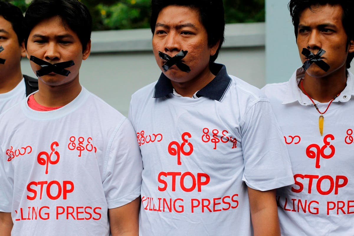 Four journalists and a newspaper boss were sentenced in Myanmar on July 10, 2014 to 10 years' jail with hard labour for reporting about an alleged chemical weapons factory, legal and media sources said. (Reuters)