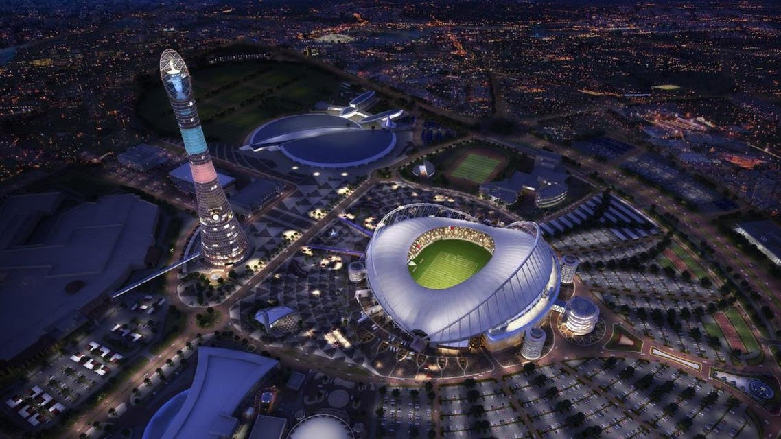 Picture shows the Khalifa International Stadium in Doha after its renovation ahead of the 2022 World Cup. (AFP/Supreme Committee for Delivery and Legacy)