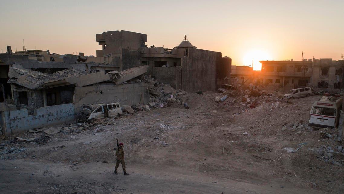iraqi soldier in liberated mosul ap