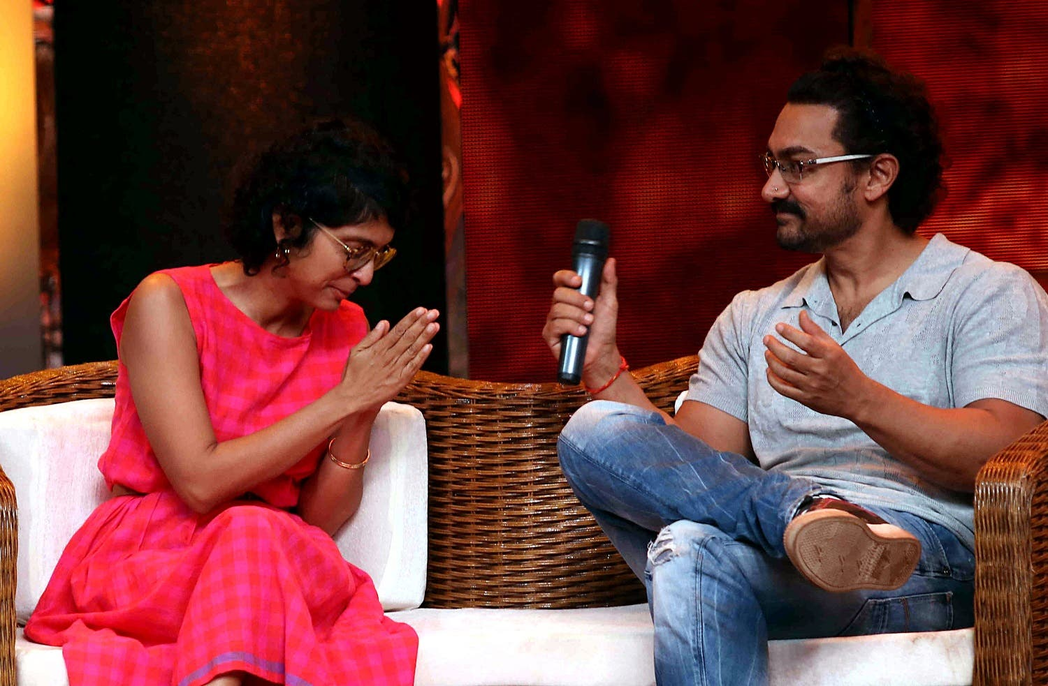 Bollywood actor Aamir Khan takes part in a television chat show in Mumbai on May 20, 2017. (AFP)