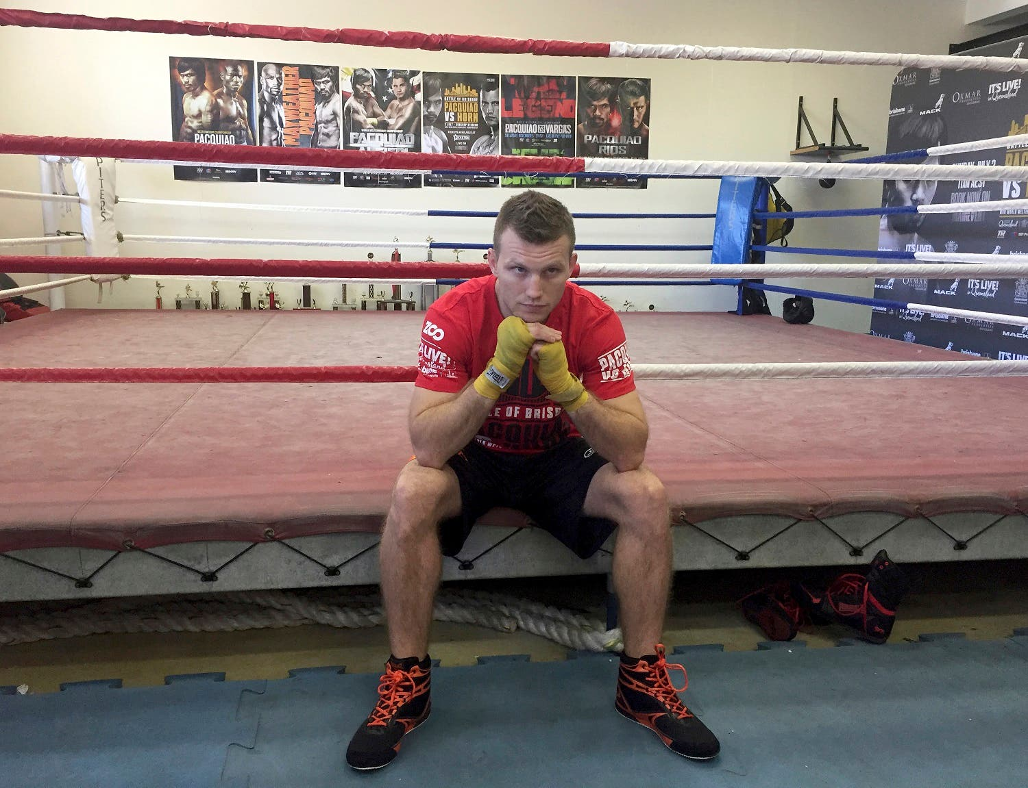 Boxer Jeff Horn poses for a photo in a gym in Brisbane, Australia, Monday, June 26, 2017. (AP)